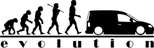 copy of EVOLUTION VW Campervan Caddy    Vinyl Decal Sticker VW funny