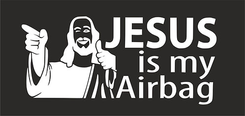 Jesus is my airbag air cooled  Vinyl Decal