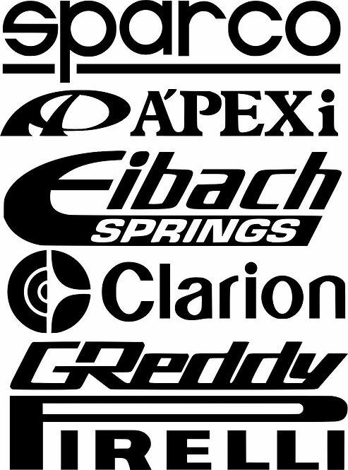 2 x DOOR STACK RACING logos graphic s1