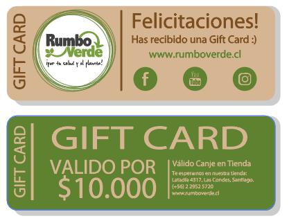 Gift Card, Rumbo Verde