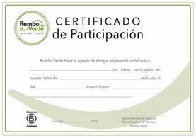 Certificato di partecipazione, Rumbo Verde