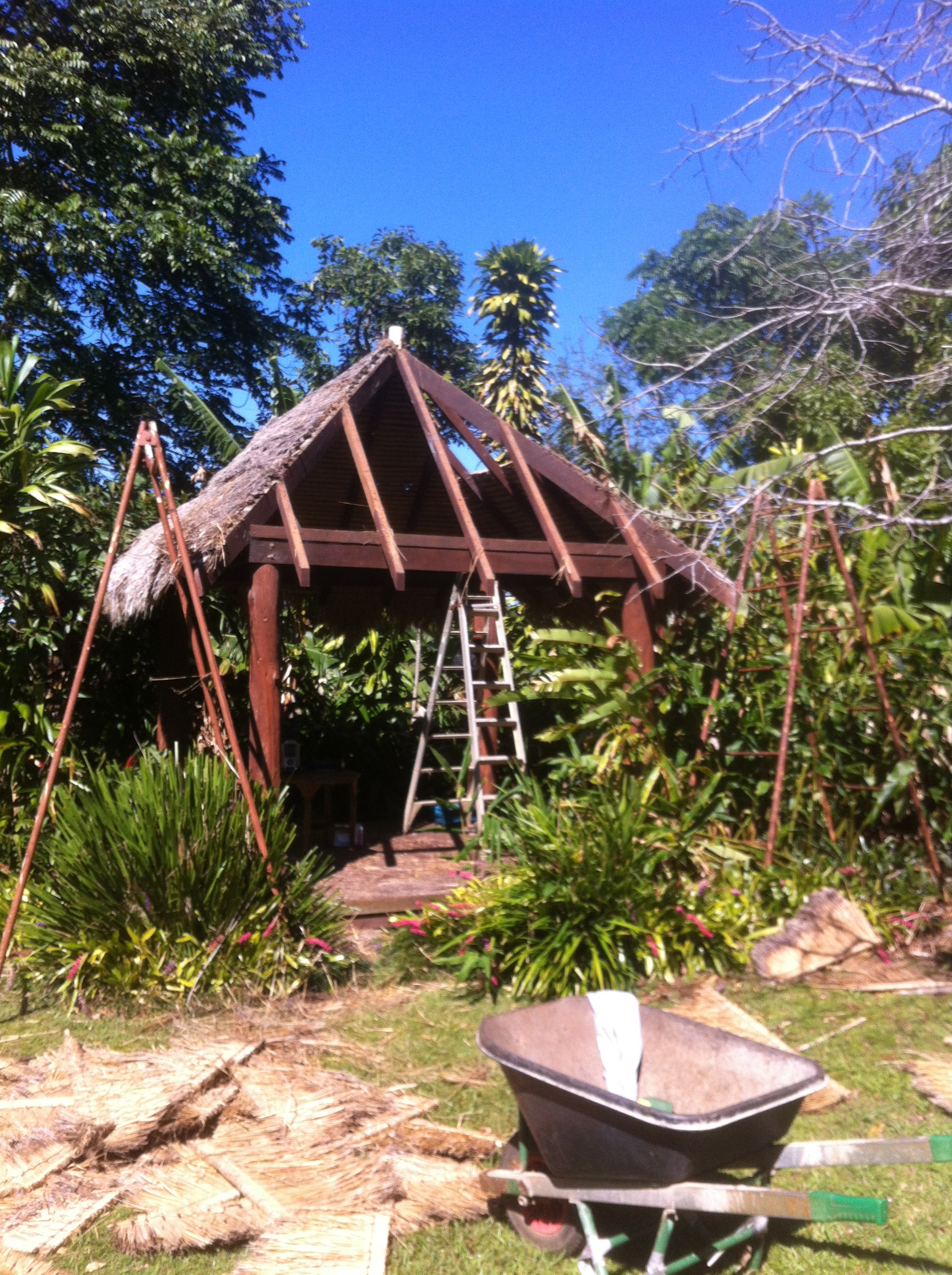 Balinese hut construction