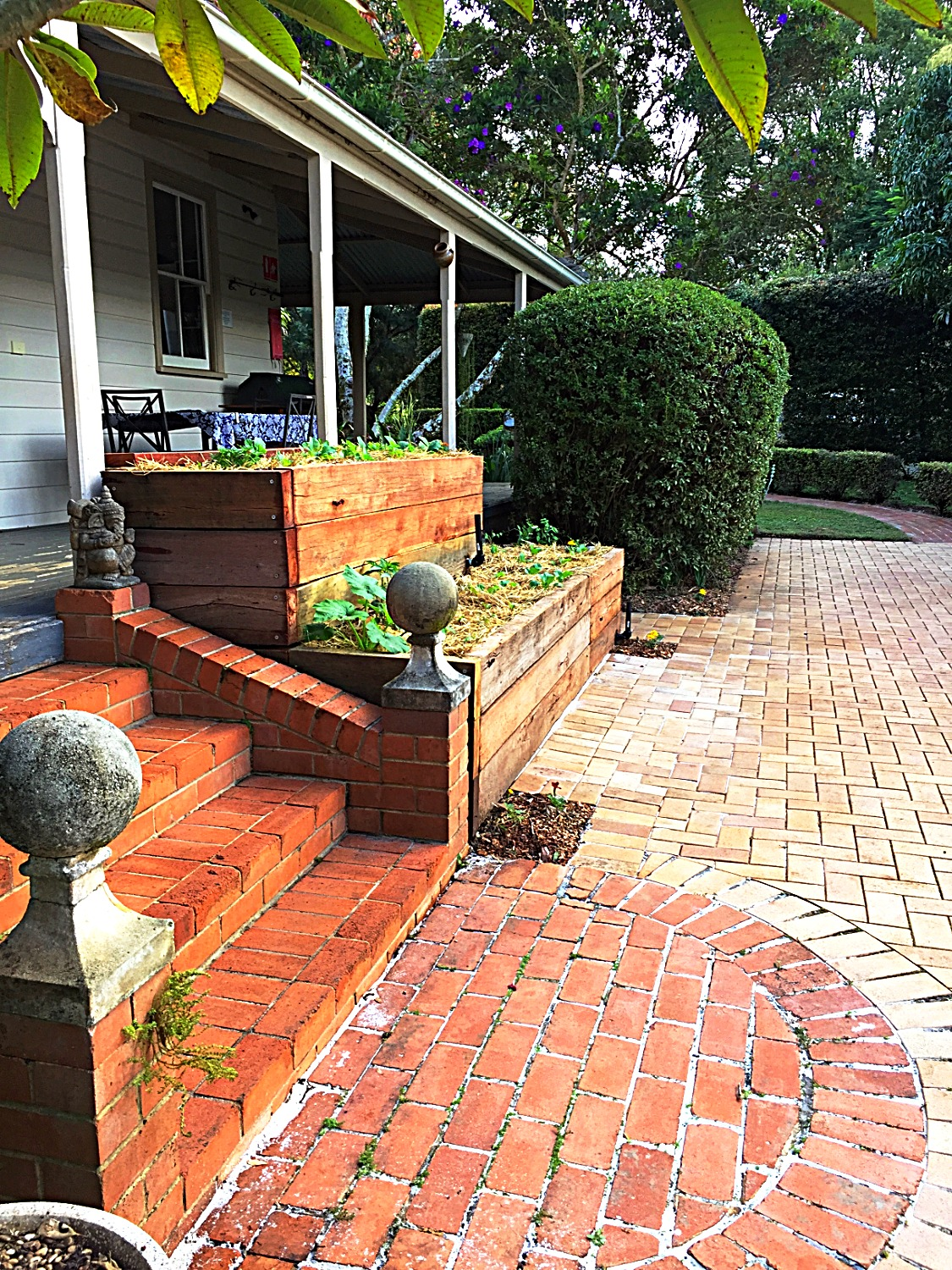 Wicking veg beds - Federal residence