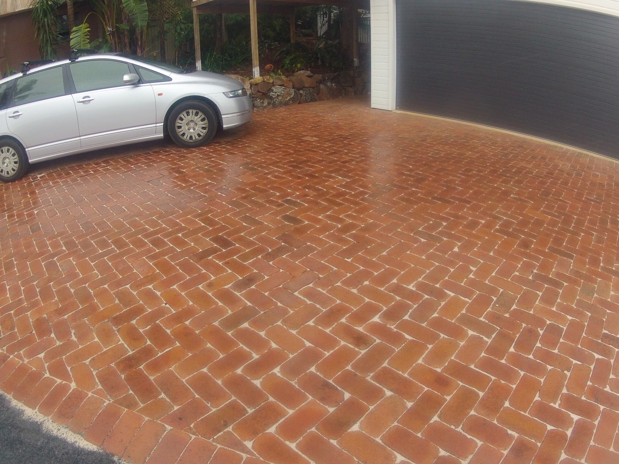 Clay cobble driveway