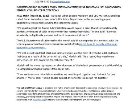 NATIONAL URBAN LEAGUE'S MARC MORIAL