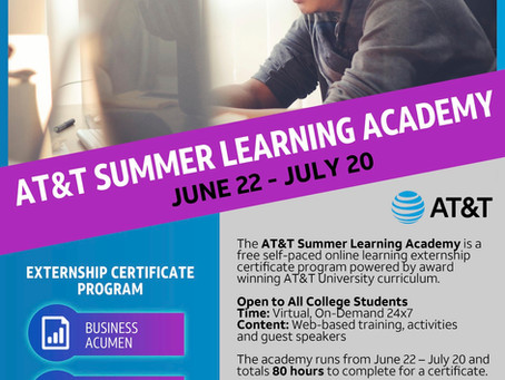 AT&T Summer Learning Academy for College Students