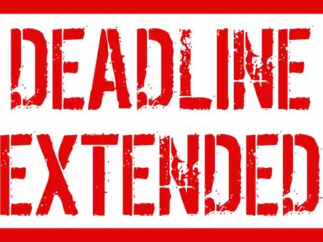 Scholarship Deadlines Extended