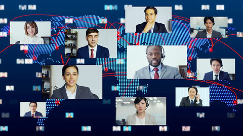 Global communication network concept. Vi