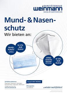 Prospektblatt Mund-Nasen-Schutz SH Weinm