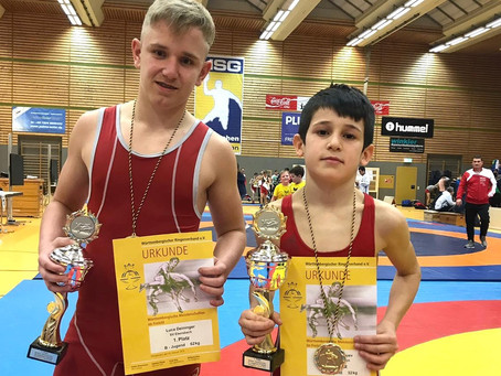 2 x Gold für Ebersbach bei den Württembergischen Meisterschaften.