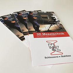 8seitiger Flyer für M&Z Sandau Schlierba