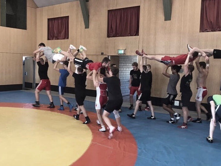 Trainingslager in der Raichberg-Sporthalle