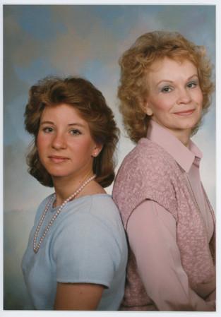Mother & Daughter photos (taken every few years). Morton, Washington c. 1971