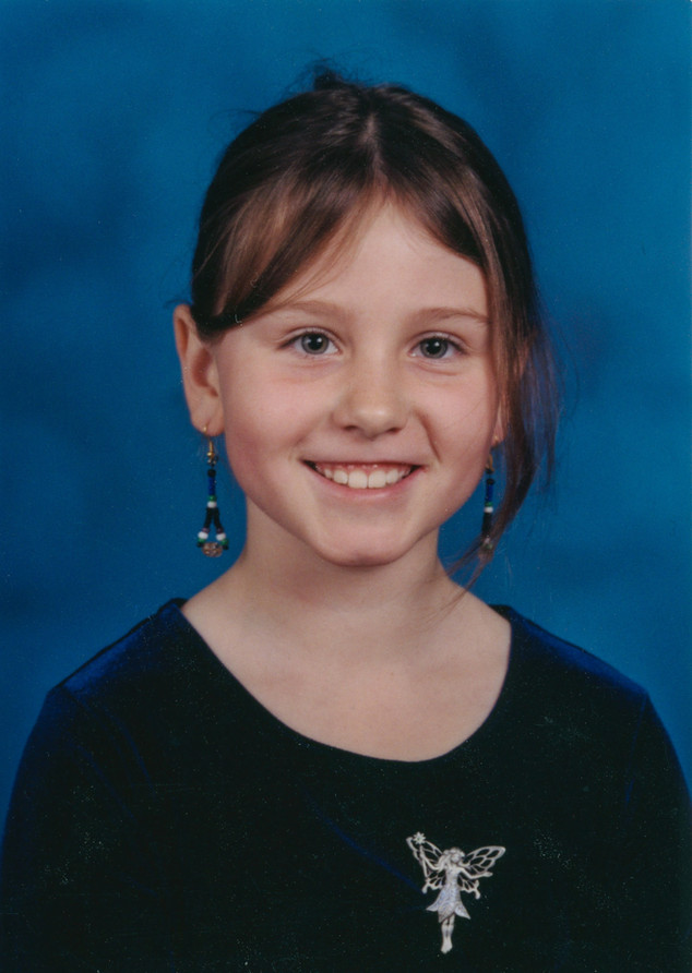 My 2nd grade school pictures (glamorous velvet top, fairy pin, and handmade earrings).   Not a thing has changed. Olympia, Washington c. 2004