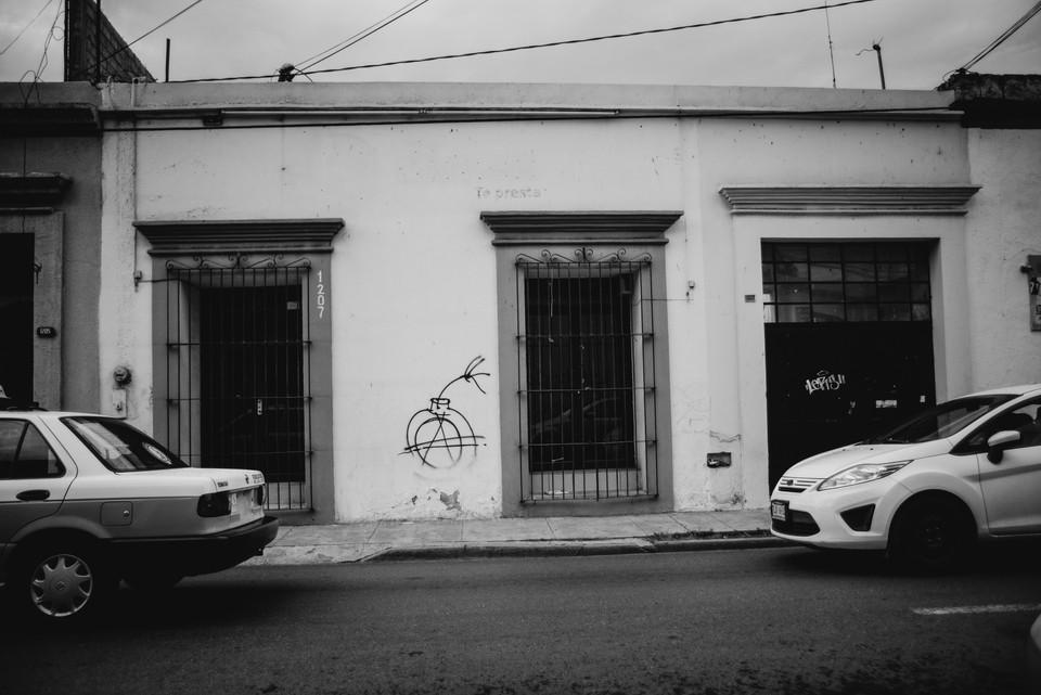 A COMMON GRAFFITI TAG IN OAXACA