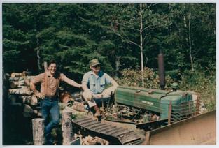 My dad and his best friend Dennis. Northern Minnesota c. 1975