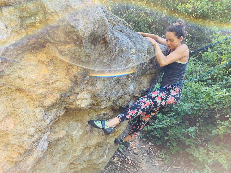 Jessie at Grizzly Peak Boulders