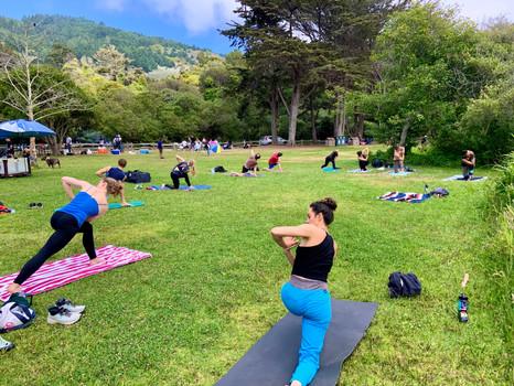 Yoga at Stinson Beach