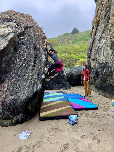 BRG Outdoors Yoga + Bouldering at Stinson Beach