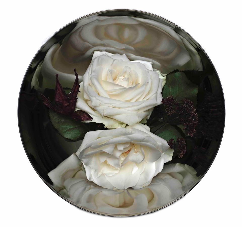 white rosebowl