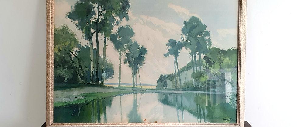 Framed Vintage Print by Lucien Peri (1880 - 1948)
