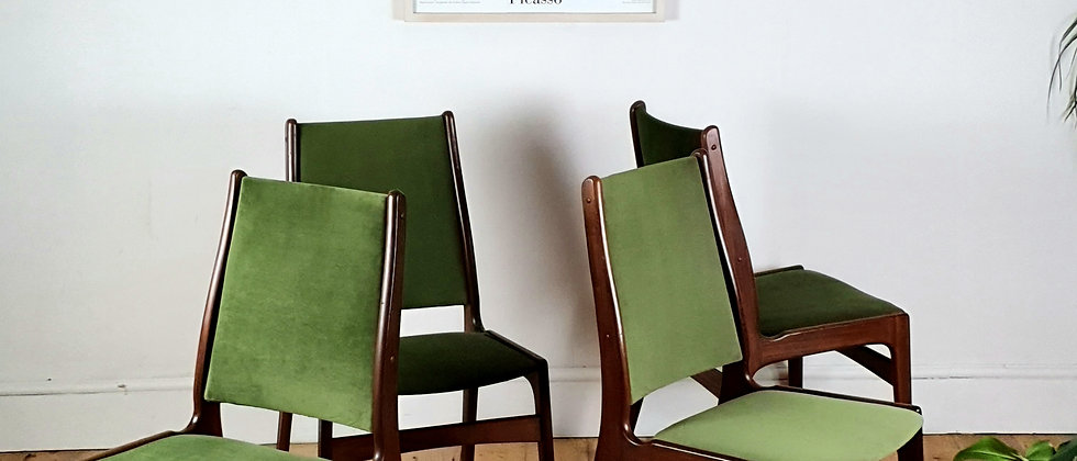 Mid Century Dining Chairs By Danish Designer Erik Buch