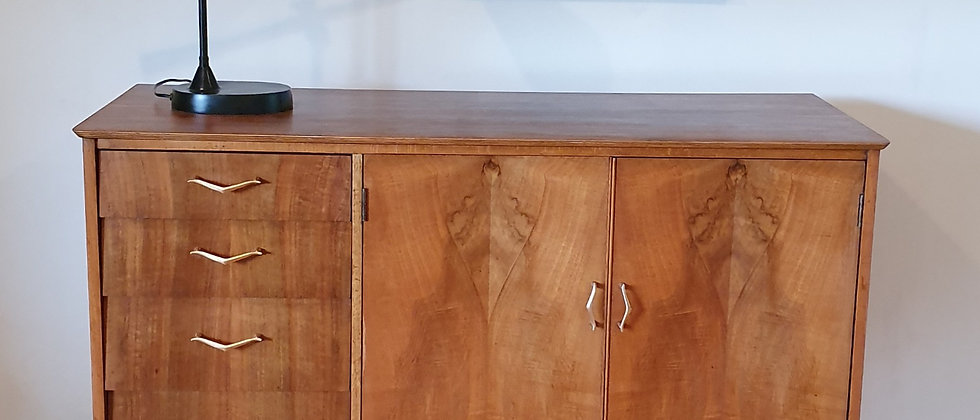 Mid Century Figured Walnut Sideboard By Remploy