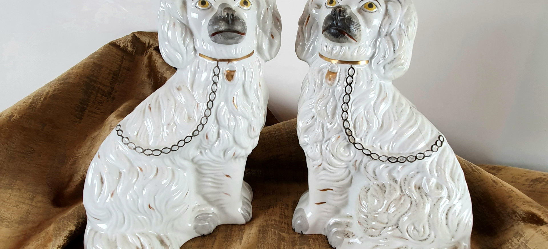 Pair of Antique Staffordshire Dogs