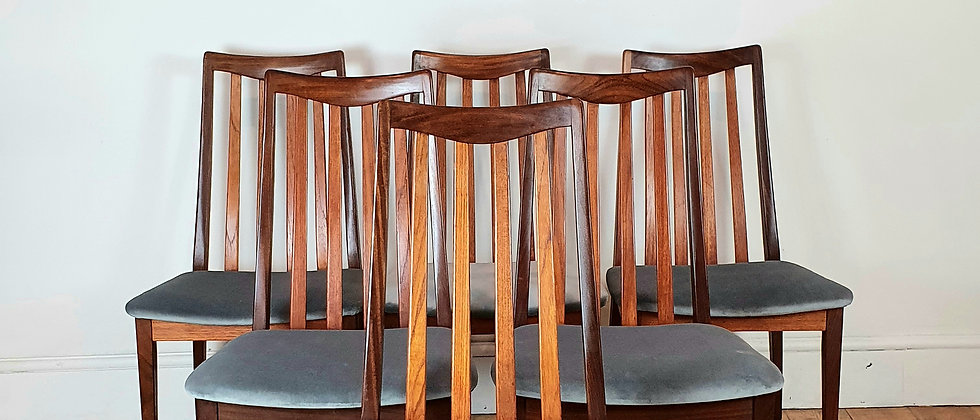 Set of 6 G Plan Fresco Dining Chairs 1960's