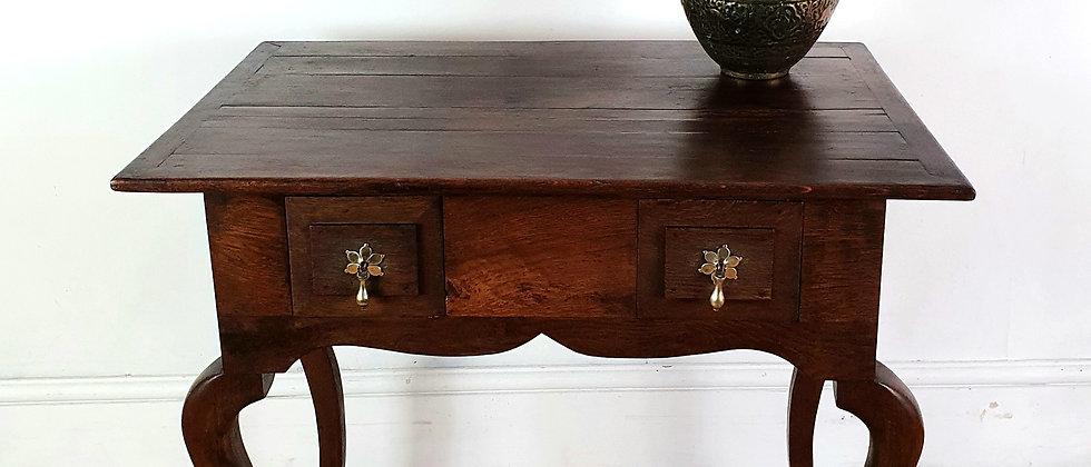 19thC Georgian Oak Lowboy Side Table
