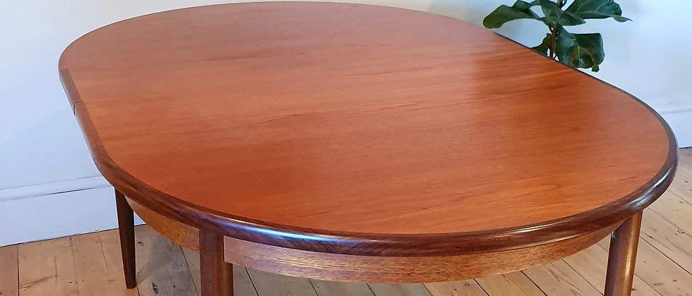 Mid Century G Plan Teak Oval Extending Dining Table
