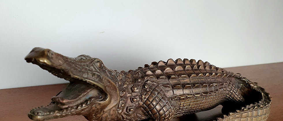 Chinese Bronze Crocodile
