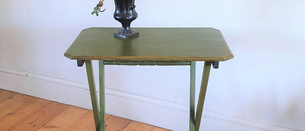 Painted Vintage Folding Side Table