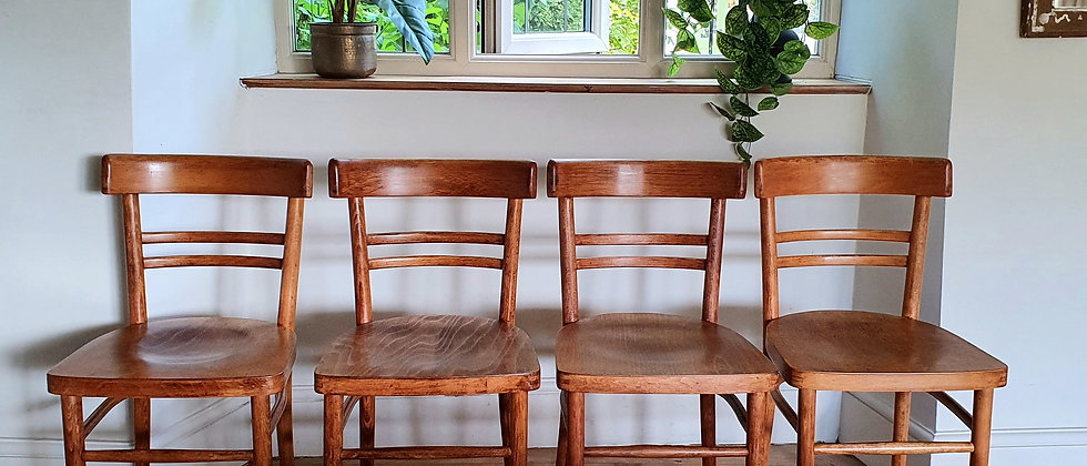 Original 'Polish Bentwood Furniture Industry' Chairs, c.1950