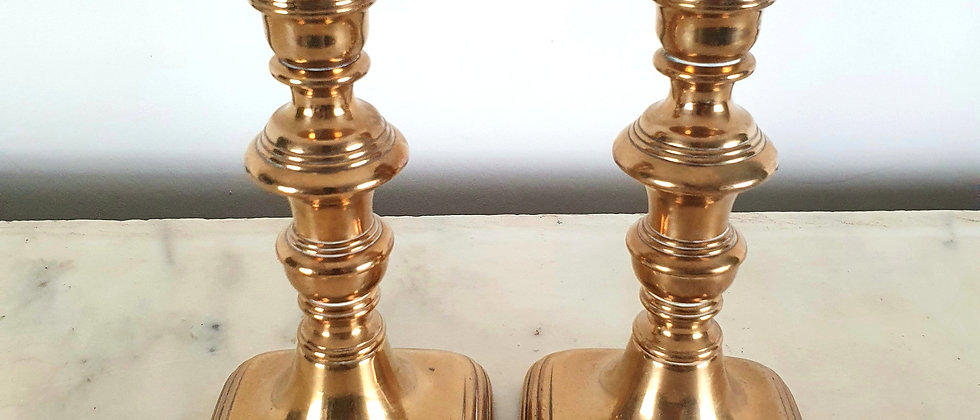 Pair of Vintage Brass Candles