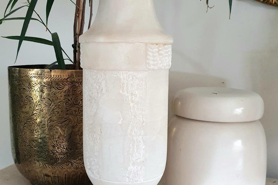 Carved Marble Vase