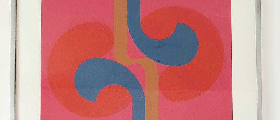 Original Screenprint By Artist Michael Stokoe 'Thrusting Outwards' 1969/70