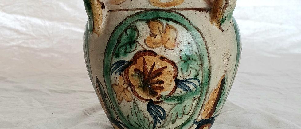 Vintage Italian Hand Painted Faience Vase