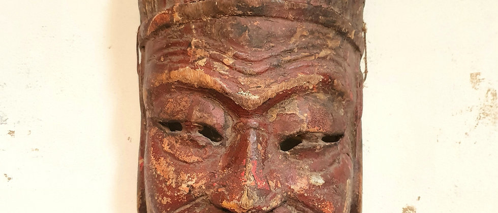Vintage Hand Carved and Painted Mask