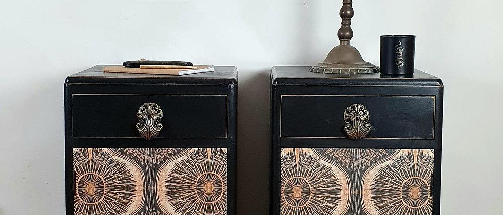 Vintage Cabinets featuring Anna Hayman x Bibana Wallpaper