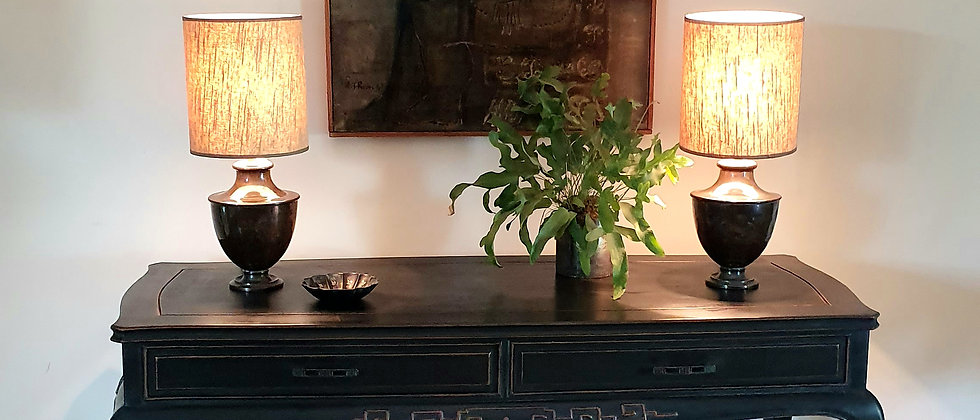 Elegant Painted Chinoiserie Console Table