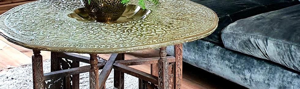 Brass Benares Table
