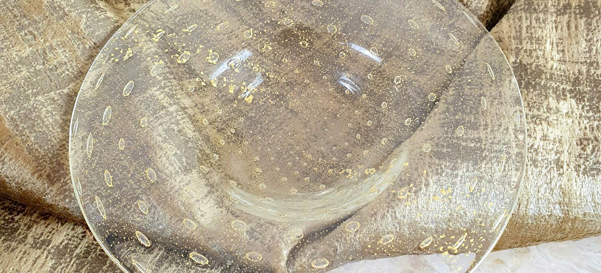 Murano Gold Glass Dish