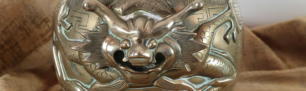 Japanese Brass Cache Pot
