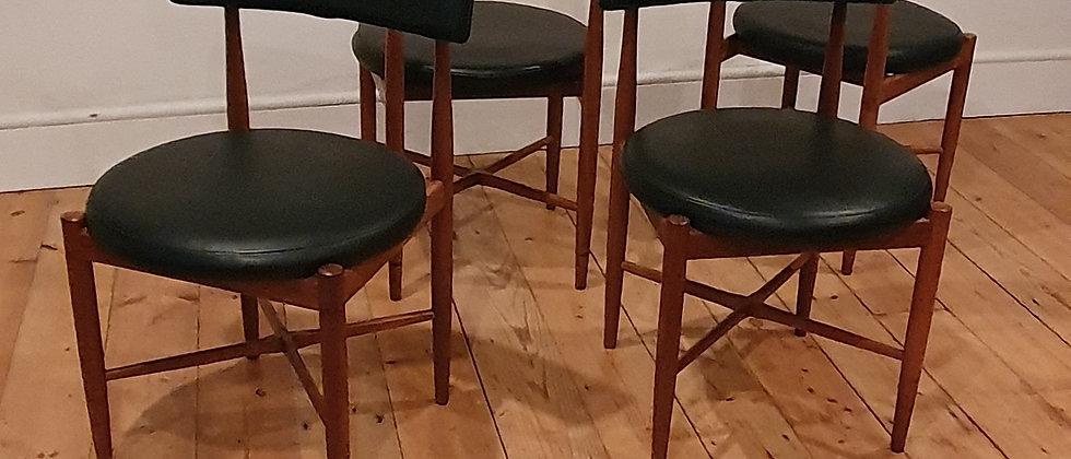 Set Of Four Teak G Plan Dining Chairs Designed By Kofod Larsen