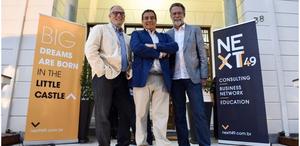 Ismael Rocha, Mauricio Turra e Luiz Garcia, sócios da nextt 49+