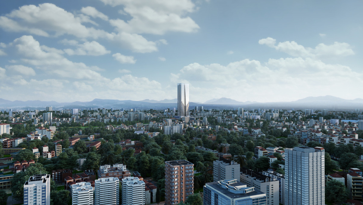 Vietnam Lotte Tower Aerial cut - A snap shot from animation
