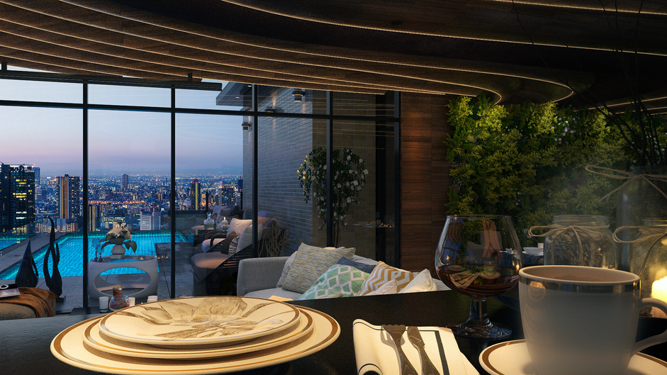 Luit Tower Livingroom - A snap shot from animation