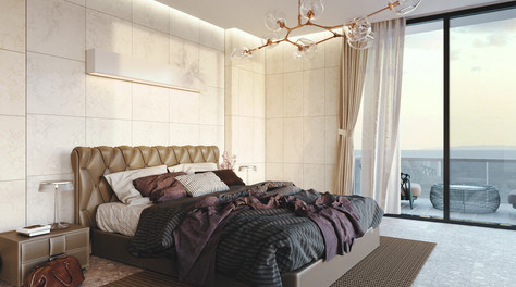 177 Forest road residence Bedroom - A snap shot from animation