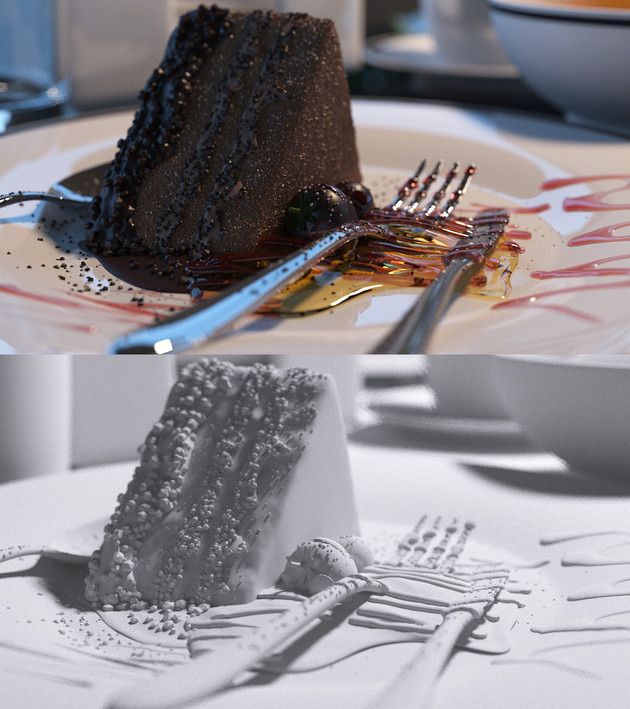 Cake Closeup - A snap shot from animation